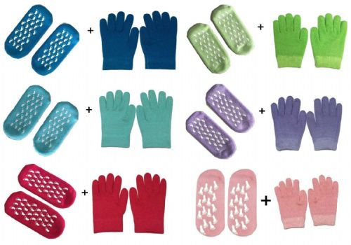 Pair of Gloves + Socks UNISEX PURE MOISTURISING GEL CARE SPA TREATMENT ANTI-SLIP